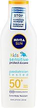 Parfums et Produits cosmétiques Lotion solaire waterproof pour enfants - Nivea Sun Kids Pure & Sensitive Sun Lotion SPF50+