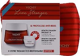 Parfums et Produits cosmétiques Vichy LiftActiv Le Protocole Anti-Rides - Coffret (d/cr/50ml + n/cr/15ml + bag/1pcs)