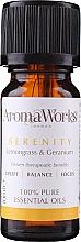Parfums et Produits cosmétiques Huile essentielle Citronnelle et géranium - AromaWorks Serenity Essential Oil