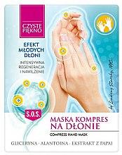 Parfums et Produits cosmétiques Masque-compresse à l'extrait de papaye pour mains, 2pcs - Czyste Piękno