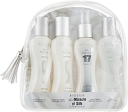 Parfums et Produits cosmétiques Coffret cadeau - BioSilk the Miracle of Silk (shm/67ml + cond/67ml + silk/cond/67ml + gel/67ml + bag)