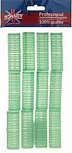 Parfums et Produits cosmétiques Rouleaux à cheveux 20/63, vert - Ronney Professional Velcro Roller