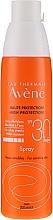 Parfums et Produits cosmétiques Spray solaire antioxydant pour peaux sensibles - Avene Solaires Haute Protection Spray SPF 30