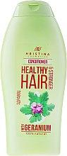 Parfums et Produits cosmétiques Après-shampooing fortifiant au géranium - Hristina Cosmetics Healthy Hair Conditioner