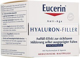 Parfums et Produits cosmétiques Crème de nuit à l'acide hyaluronique - Eucerin Hyaluron-Filler Night
