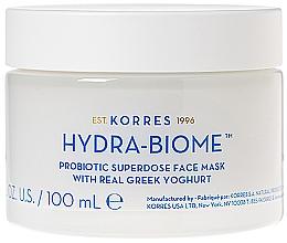 Parfums et Produits cosmétiques Masque au yaourt grec pour visage - Korres Greek Yoghurt Hydra-Biome Probiotic Superdose Face Mask
