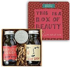 Parfums et Produits cosmétiques Bath House Barefoot & Beautiful Box of Beauty Bodycare Gift Set - Coffret cadeau (gel douche/60ml + lotion corps/60ml + baume à lèvres/15g)