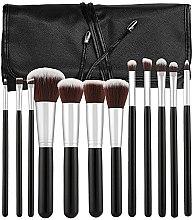 Parfums et Produits cosmétiques Kit pinceaux de maquillage avec étui, 12pcs, noir - Tools For Beauty