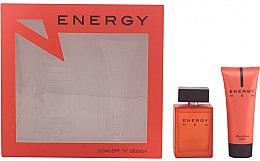 Parfums et Produits cosmétiques Concept V Design Energy Men - Set (eau de toilette/100ml + baume après-rasage/100ml)
