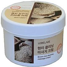 Parfums et Produits cosmétiques Crème de massage nettoyante au riz brun pour visage - Lebelage Brown Rice Cleaning Massage Cream