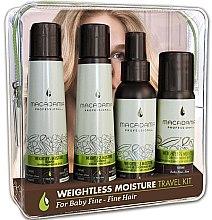 Parfums et Produits cosmétiques Coffret cadeau (eau de cologne 2 x 30ml) - Macadamia Professional Natural Oil Weightless Moisture Travel Kit (shm/100ml + cond/100ml + cond/100ml + oil/50ml)