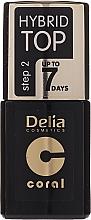 Parfums et Produits cosmétiques Vernis à ongles gel - Delia Coral Hybrid Top Coat Gel