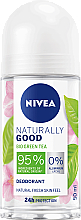 Parfums et Produits cosmétiques Déodorant roll-on au thé vert bio - Nivea Naturally Good Deodorant Roll-on Bio Green Tea