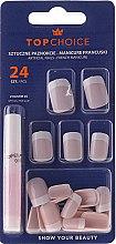 Parfums et Produits cosmétiques Kit de faux ongles avec colle French manucure, 74080 - Top Choice