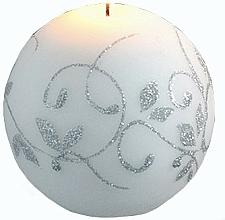Parfums et Produits cosmétiques Bougie décorative, boule, blanc, 8 cm - Artman Amelia