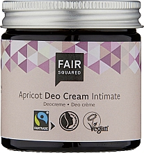Parfums et Produits cosmétiques Crème rafraîchissante intime, Abricot - Fair Squared Apricot Deo Cream Intimate