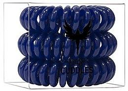 Parfums et Produits cosmétiques Élastiques à cheveux, bleu foncé - HH Simonsen Hair Cuddles Dark Blue