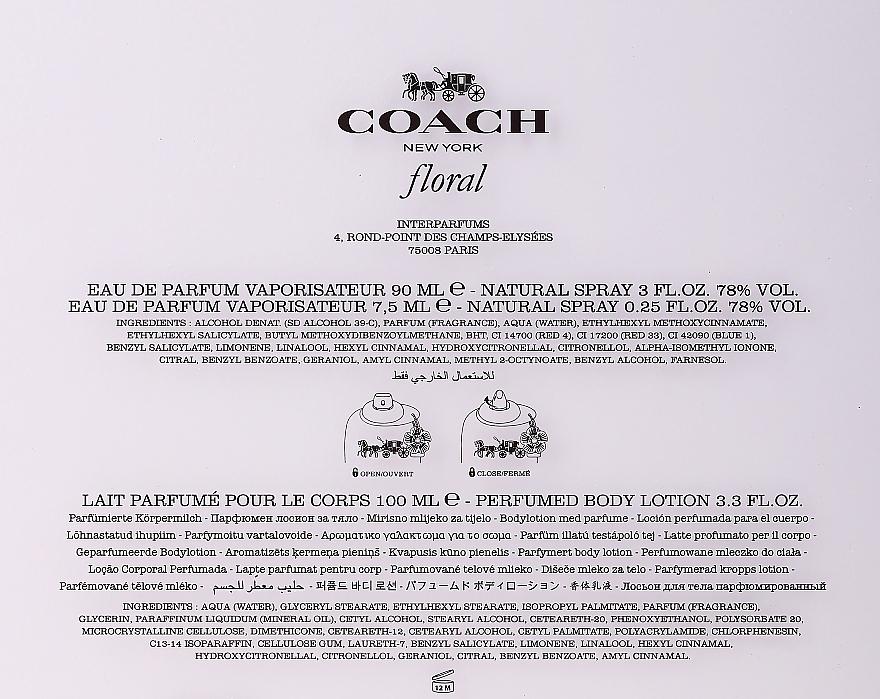 Coach Coach Floral - Coffret cadeau (eau de parfum/90ml + eau de parfum/7.5ml + lait corps/100ml) — Photo N3