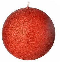 Parfums et Produits cosmétiques Bougie décorative, boule, rouge, 8 cm - Artman Glamour