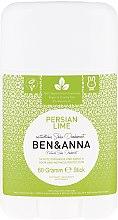 Parfums et Produits cosmétiques Déodorant stick naturel au bicarbonate de soude Lime de Perse - Ben & Anna Natural Soda Deodorant Persian Lime