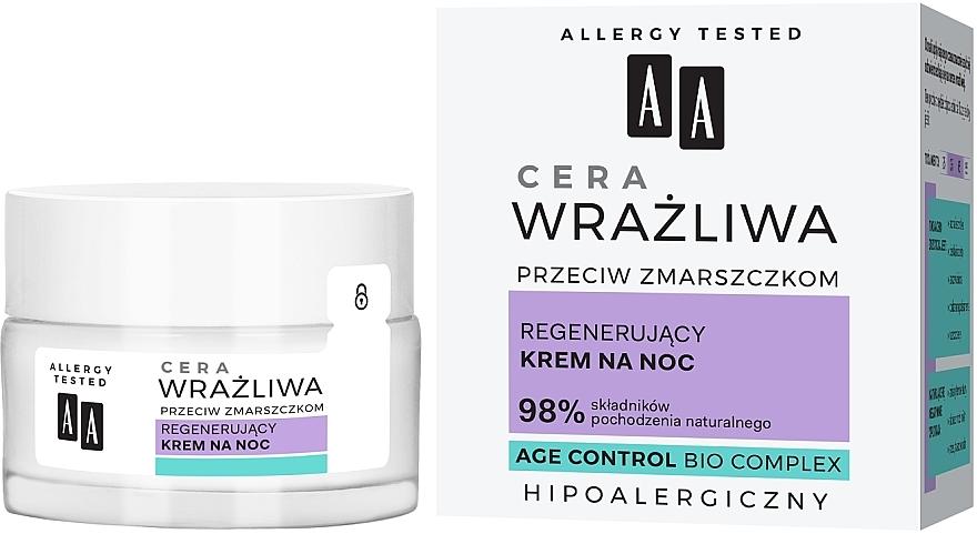 Crème de nuit hypoallergénique à l'extrait de romarin - AA Regenerating Night Cream