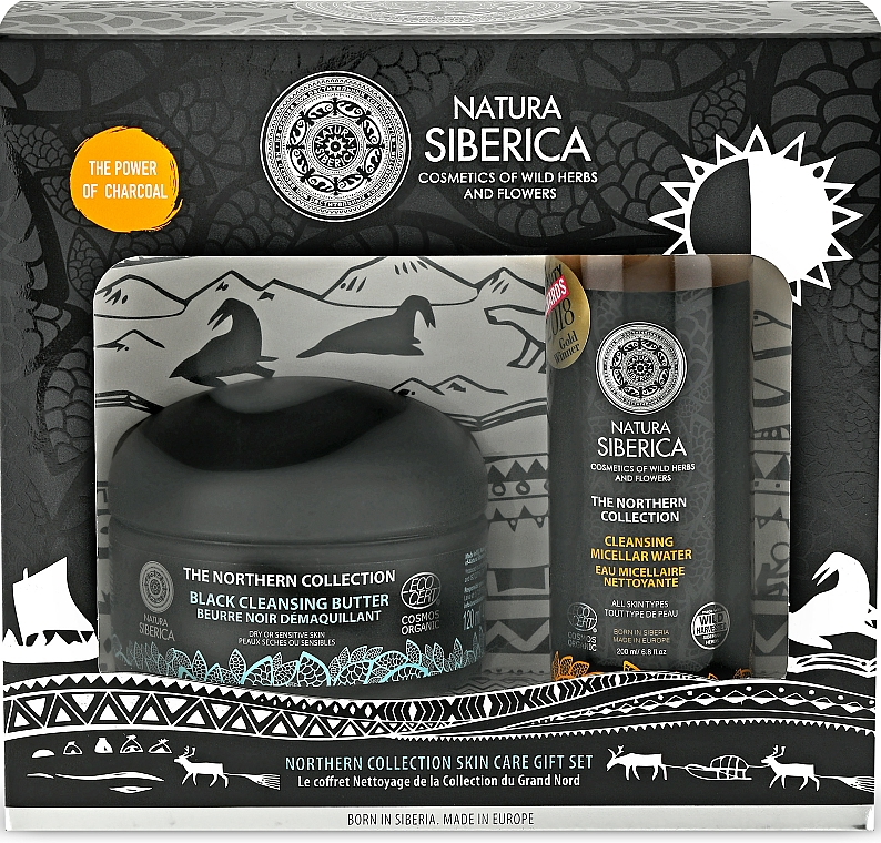 Natura Siberica The Northern Collection - Coffret cadeau (huile nettoyante/120ml + eau micellaire/200ml)