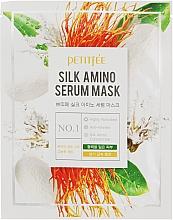 Parfums et Produits cosmétiques Masque tissu aux protéines de soie pour visage - Petitfee&Koelf Silk Amino Serum Mask