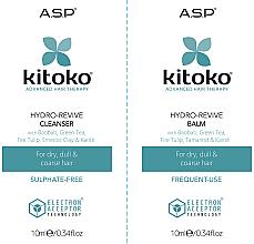 Parfums et Produits cosmétiques Affinage Kitoko Hydro-Revive Cleanser & Balm Sachet Duo - Set (shampooing/10ml + baume/10ml)