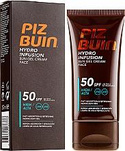 Parfums et Produits cosmétiques Gel-crème solaire pour le visage - Piz Buin Hydro Infusion SPF 50