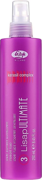 Spray fluide thermo-protecteur à la kératine pour les cheveux - Lisap Milano Lisap Ultimate 3 Straight Fluid Spray