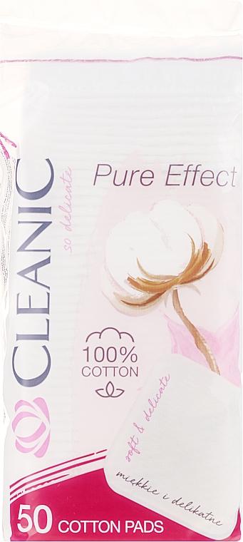 Disques démaquillants Pure Effect, 50 pcs - Cleanic Face Care Cotton Pads
