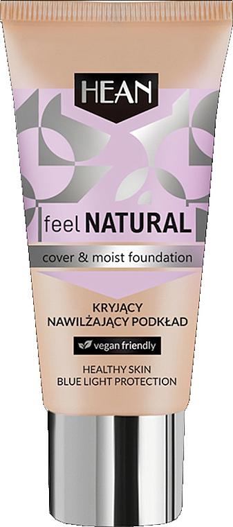 Fond de teint hydratant - Hean Feel Natural Cover & Moist Foundation