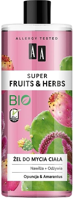 Gel douche Figue de Barbarie et amarante - AA Super Fruits & Herbs