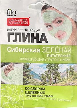 """Argile nutritive pour le visage et le corps """"Sibérie"""", verte - Fito Kosmetik"""