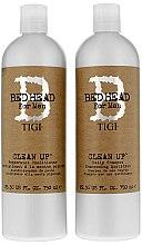 Parfums et Produits cosmétiques Set - Tigi Bed Head Clean Up (shampooing/750ml + après-shampooing/750ml)