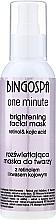 Parfums et Produits cosmétiques Masque 1 minute à l'acide kojique pour visage, cou et décolleté - BingoSpa Brightening Mask