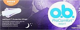 Parfums et Produits cosmétiques Tampons, 16 pièces - O.b. Pro Comfort Night Super Tampons