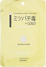 Parfums et Produits cosmétiques Masque tissu au venin d'abeille pour visage - Mitomo Essence Sheet Mask Bee Venom + Gold