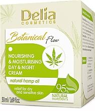 Parfums et Produits cosmétiques Crème de jour et nuit à l'huile de chanvre - Delia Botanical Flow Nourishing & Moisturizing Hemp Oil Day & Night Cream