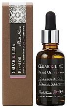 Parfums et Produits cosmétiques Bath House Cuban Cedar & Lime - Huile à barbe, Cèdre et Lime