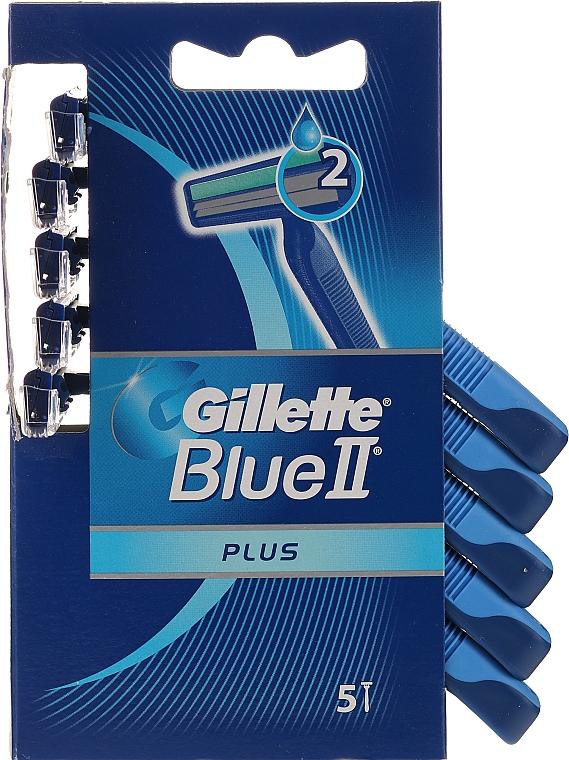 Rasoirs jetables, 5pcs - Gillette Blue II Plus Sensitive