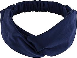 Parfums et Produits cosmétiques Bandeau pour cheveux, bleu foncé, Knit Twist - MakeUp Hair Accessories