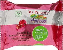 Parfums et Produits cosmétiques Savon naturel Grenade bio, parfum pèche veloutée - Ma Provence Organic Soap