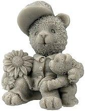 Parfums et Produits cosmétiques Savon naturel artisanal, Deux ours en peluche, gris - LaQ Happy Soaps