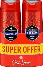 Parfums et Produits cosmétiques Shampooing et gel douche - Old Spice Captain Shower Gel + Shampoo
