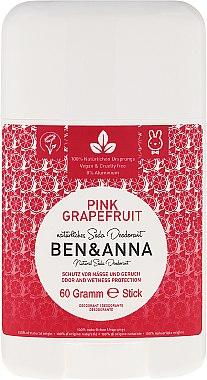Déodorant stick naturel au bicarbonate de soude Pamplemousse rose - Ben & Anna Natural Soda Deodorant Pink Grapefruit