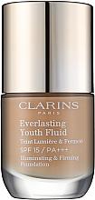 Parfums et Produits cosmétiques Fond de teint fluide raffermissant et anti-âge, SPF 15 - Clarins Everlasting Youth Fluid