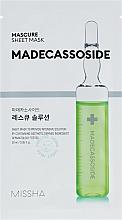 Parfums et Produits cosmétiques Masque tissu régénérant pour visage - Missha Mascure Rescue Solution Sheet Mask Madecassoside