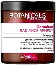 Parfums et Produits cosmétiques Masque éclat à l'huile de géranium pour cheveux ternes ou colorés - L'Oreal Paris Botanicals Fresh Care Geranium Mask