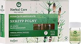 Parfums et Produits cosmétiques Ampoules capillaires à l'extrait de prêle - Farmona Herbal Care Horsetail Ampoule Treatment